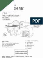 Belt.disc Sander Manual