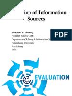 evaluationofinformationsources-170823051812