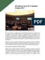 La cuestión del Sahara en la IV Comisión de Naciones Unidas 2017