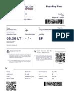 Flight E-ticket - Order ID 66314286 - 02032019