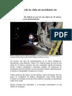 Minero Pierde La Vida en Accidente en Cusco