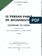 Le Persan Parlé en Afghanistan. Grammaire Du Kâboli.farhadi Abd-ul-Ghafur