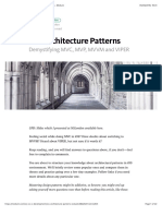 IOS Architecture Patterns — IOS App Development — Medium