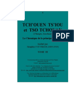 Tch'Ouen Ts'Iou Et Tso Tchouan, Tome III. La Chronique de La Principauté de Lòu. 1951.Séraphin Couvreur.春秋左传