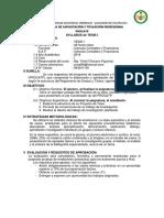 Syllabus de Tesis i Procatp Cs. Contables y Finan.