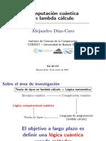 "Charla ""Computación cuántica en lambda cálculo"""
