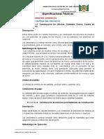 Especificaciones Tecnicas San Salvador