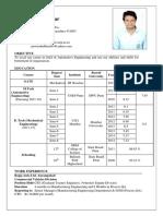 ARAI Format Resume