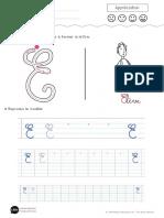 Apprendre a Ecrire La Lettre e Majuscule u85h