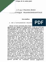 Kant Dialectique - Introduction