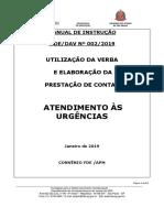 Manual de Instrução 002-2019 - Atendimento Às Urgências