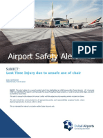 Airport Safety Alert-42 - Lost Time Injury Due to Unsafe Use of Chair