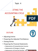 Topic 4 - Completing the Accounting Cycle