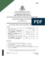 SPM Percubaan 2007 MRSM EST Paper 1