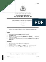 SPM Percubaan 2007 MRSM EST Paper 2