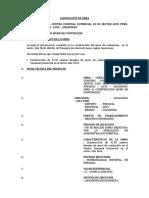 Liquidacion de Obra Mercado de Alto Peru