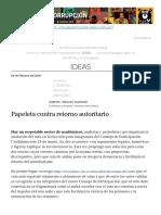 Papeleta Contra Retorno Autoritario _ Plan V