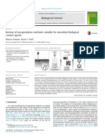 Review of encapsulation methods suitable for microbial biological control agents