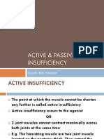 Lec 9Active & Passive Insufficiency