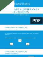 ACA - Segundo Corte - Expresiones Algebraicas y Ecuaciones - Javier Beltrán