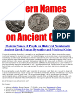 Names of People on Ancient Greek and Roman Collectible Coins