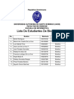 Lista de Estudiantes de Bioética