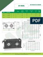 ACE air cooled oil cooler datasheet for model AH0608L
