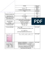 Fluid mechanics formula