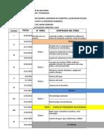 Cronograma de Clases II 2018