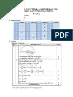 Kunci Jawaban Esai Matematika Pusat