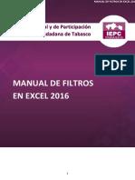 Manual de Filtros en Excel 2016