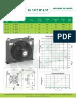 ACE air cooled oil cooler datasheet AH1012
