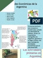 Principales Actividades Económicas en Argentina