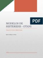 Modelos de Histeresis OTANI