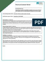 Practicum Summary Report Final