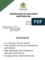Caso Clínico em Anestesiologia