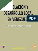 Población y Desarrollo Local en Venezuela