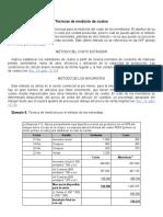 técnica de medición de costos