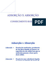 Adsorao x Absorao