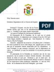 carta á Dignissima Armada Espanhola