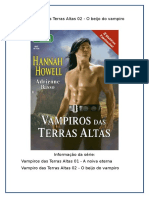Hannah Howell - Vampiros das Terras Altas - O Beijo do vampiro (1).doc