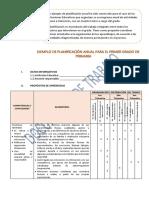 Planifiación anual 1º grado