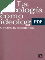 La Psicología Como Ideología