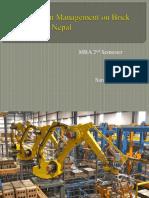 Supply Chain Management Saroj