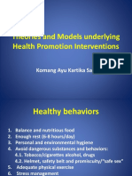 Day 7 Theories and Models Underlying Health Promotion Interventions