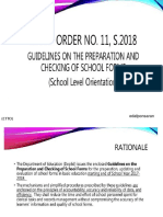 Guidlines on the preparation and checking of school forms