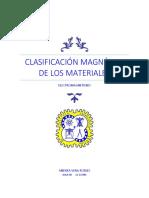 Clasificación Magnética de Los Materiales