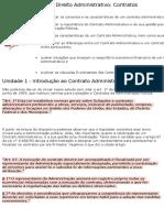 Noções de Direito Administrativo - Contratos