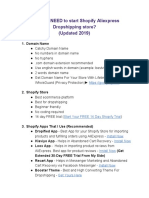 FREE Shopify Dropshipping Checklist (2019)