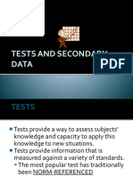 Test and Secondary Data
